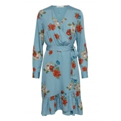 Gestuz Wrap Dress with Flower Print