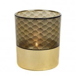Danish Collection Decorative Glass Votive Candle Holder - Gold