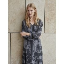 Gustav Alana Long Shirt Dress - Grey