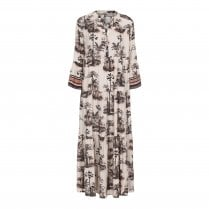 Gustav Brooklyn Frill Dress - Palm Print