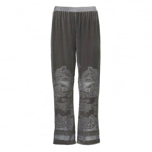 Gustav Burn Out Velvet Pants
