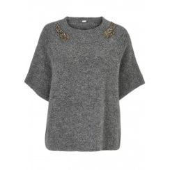 Gustav Cape with Pearls - Grey