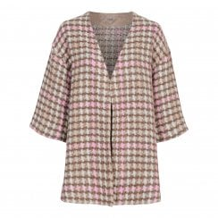 Gustav Cardi Cape  - Boucle Pink Check