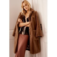 Gustav Dora Teddy Coat - Brown