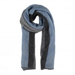 Gustav Etine Knit Scarf - Blue/Grey
