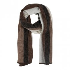 Gustav Etine Knit Scarf - Brown/Cream