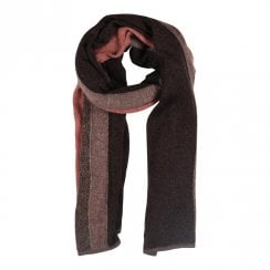 Gustav Etine Knit Scarf - Brown/Rust