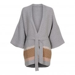 Gustav Knit Cardigan - Grey/Beige
