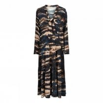 Gustav Long Tier Dress - Graphic Print