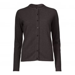 Gustav Lurex Cardigan - Brown