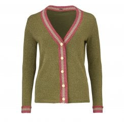 Gustav Lurex Cardigan - Green