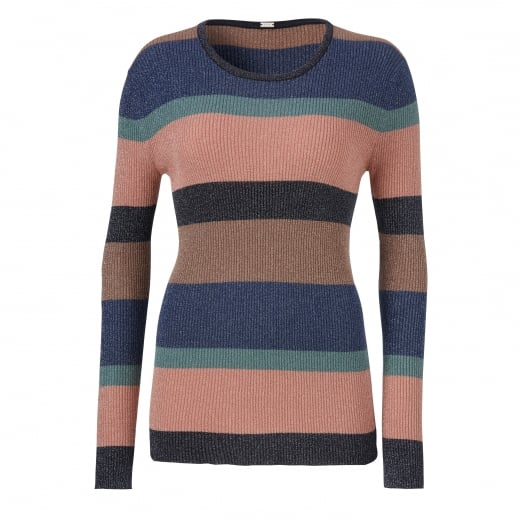 Gustav Lurex Rib Knit Top - Multi Colour