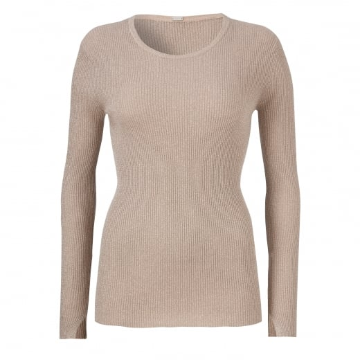 Gustav Lurex Rib Knit Top
