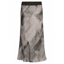 Gustav Printed Bias Cut Skirt - Brown - JH