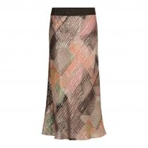 Gustav Printed Bias Cut Skirt - Pink - JH