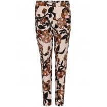 Gustav Printed Regular Legs Trousers - Printed Flowers