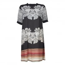 Gustav Printed Round Neck Dress