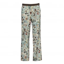Gustav Printed Straight Leg Trouser - Flower