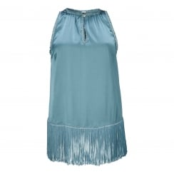Gustav Silk Top with Tassels