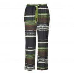 Gustav Striped Print Pants - Green