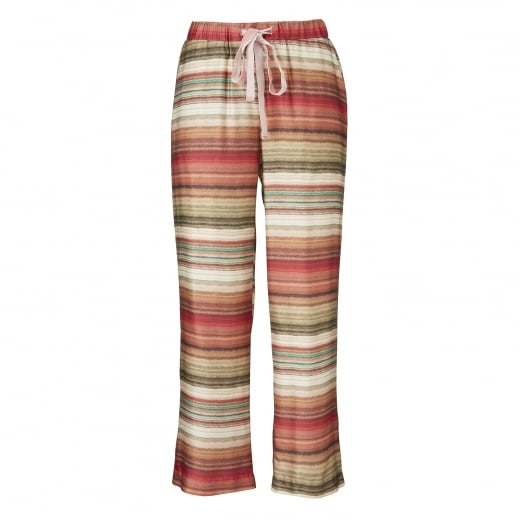 Striped Print Pants - Peach