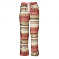 Gustav Striped Print Pants - Peach