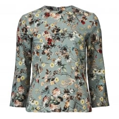 Gustav Top with A-Shape Sleeves - Flower