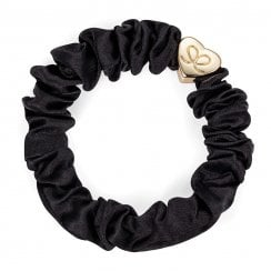 Hair Scrunchie By Eloise  - Silk Black