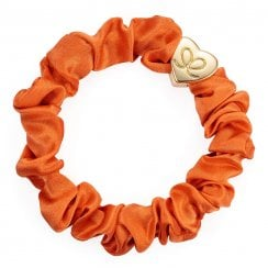 Hair Scrunchie By Eloise - Silk Orange