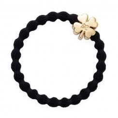 Hair Tie BY ELOISE - Gold Clover - Black