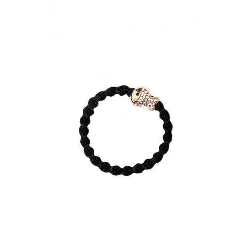 By Eloise Hair Tie BY ELOISE in Black with a Diamante Fish