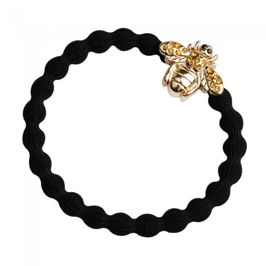 By Eloise Hair Tie BY ELOISE in Black with Bling Bee