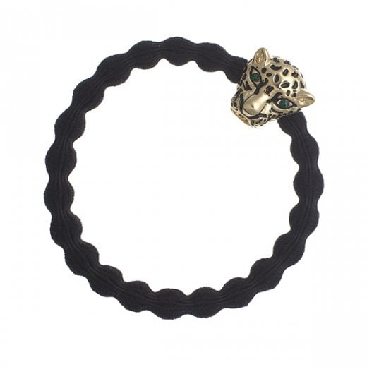 By Eloise Hair Tie BY ELOISE in Black with Jaguar