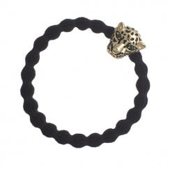 Hair Tie BY ELOISE in Black with Jaguar