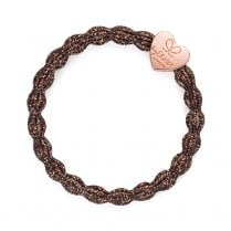 Hair Tie BY ELOISE in Metallic Bronze with Rose Gold Heart