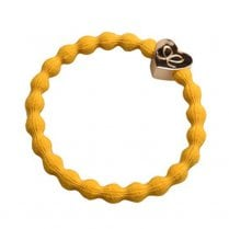Hair Tie BY ELOISE in Mustard Yellow with Gold Heart