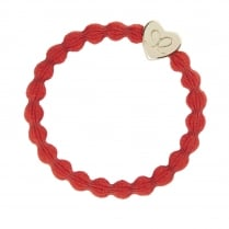 Hair Tie BY ELOISE in Red with Gold Heart