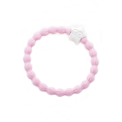 By Eloise Hair Tie BY ELOISE in Soft Pink with Silver Star