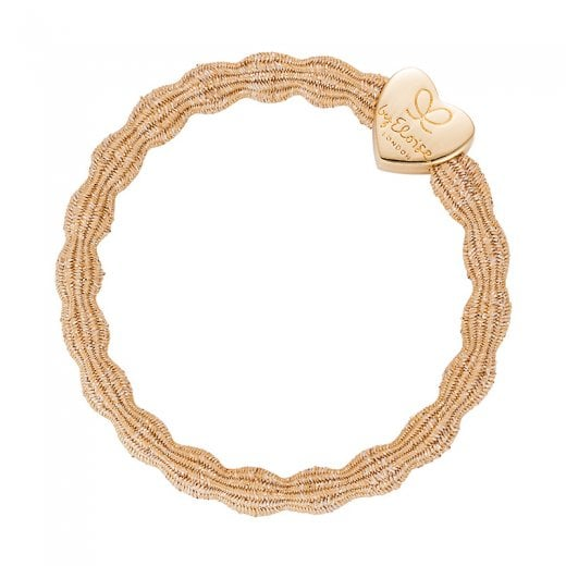 By Eloise Hair Tie BY ELOISE Metallic Gold with Gold Heart