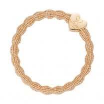 Hair Tie BY ELOISE Metallic Gold with Gold Heart