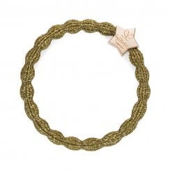 Hair Tie BY ELOISE Metallic Olive with Gold Star