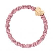 Hair Tie BY ELOISE Metallic Rose Pink with Gold Star