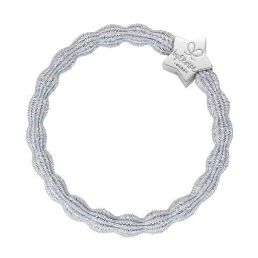 By Eloise Hair Tie BY ELOISE Metallic Silver with Silver Star