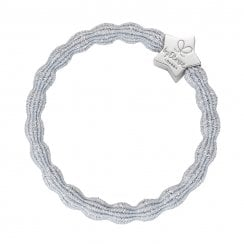 Hair Tie BY ELOISE Metallic Silver with Silver Star