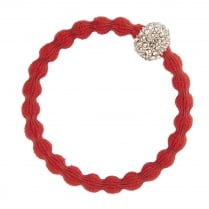 Hair Tie BY ELOISE  Red with a Diamante Snowball