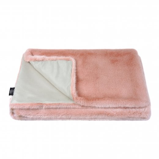 Helen Moore Large Signature Throw - Dusky Pink