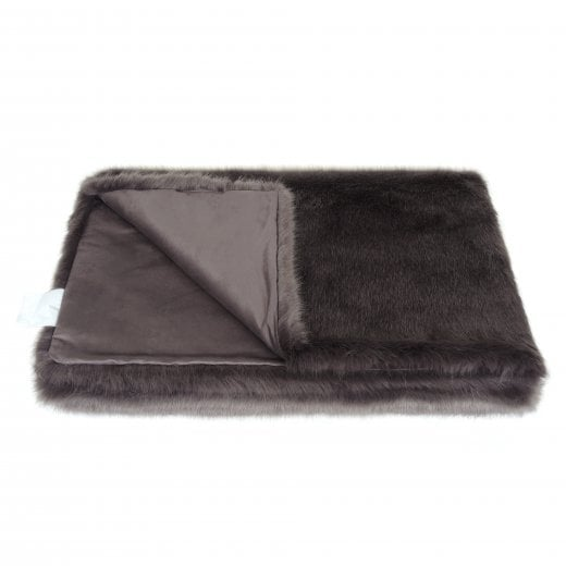 Helen Moore Large Signature Throw - Steel