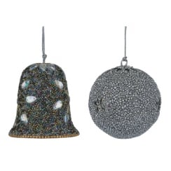 Home Art Bauble and Bell Silver