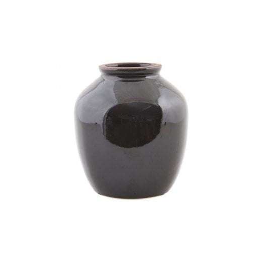 House Doctor Black Shine Vase - Medium