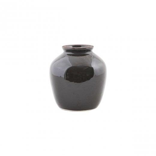 House Doctor Black Shine Vase - Small